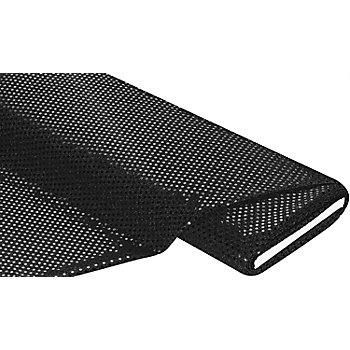Paillettenstoff, schwarz, 3 mm Ø, 100 cm breit