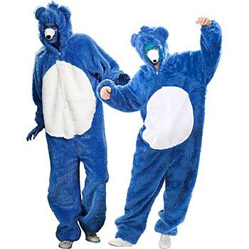 buttinette Bärenkostüm für SIE und IHN, blau