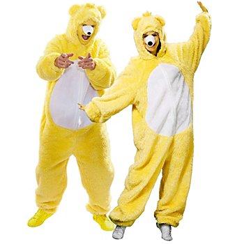 buttinette Combinaison 'ours' pour hommes et femmes, jaune