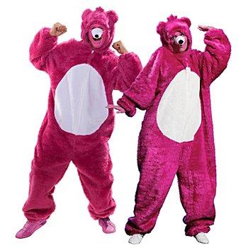 buttinette Combinaison 'ours' pour hommes et femmes, rose vif