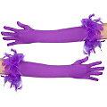 Handschuhe Glamour lang, lila