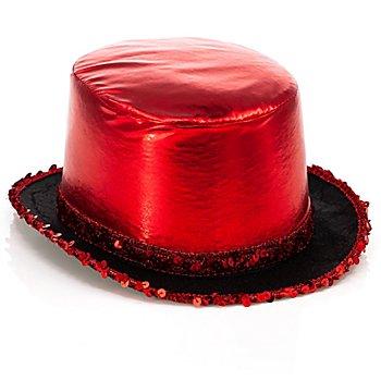 Haut de forme élégant 'cabaret', rouge