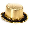 """Eleganter Zylinder """"Kabarett"""", gold"""