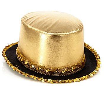 Eleganter Zylinder 'Kabarett', gold