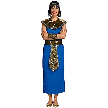 Déguisement 'pharaonne', bleu/or