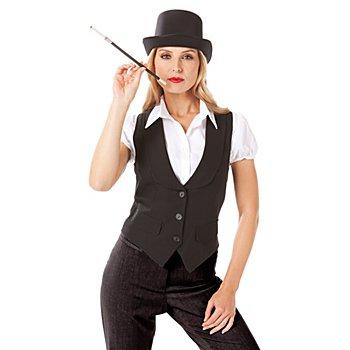 Gilet femme 'cabaret', noir