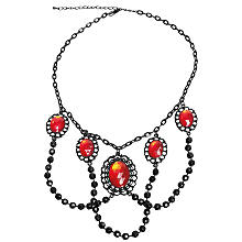 Collier 'gothic', rouge/noir