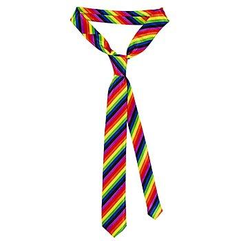 Gestreifte Krawatte, bunt