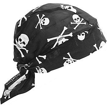 Piratentuch, schwarz/weiss