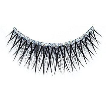 FANTASY Wimpern mit Glitterband, schwarz
