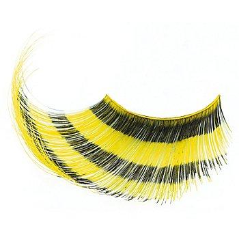 EULENSPIEGEL Wimpern 'Streifen gelb'