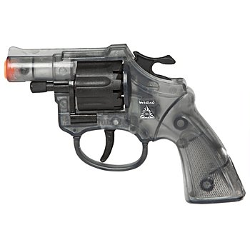 Pistolet 'Lady Colt', noir/transparent
