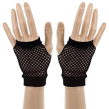 Netzhandschuhe, schwarz