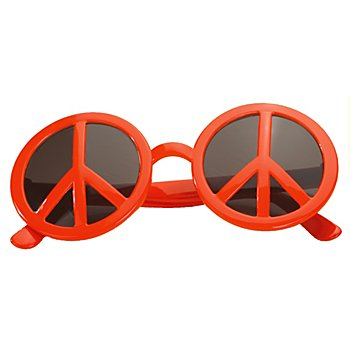 Peace-Brille, rot