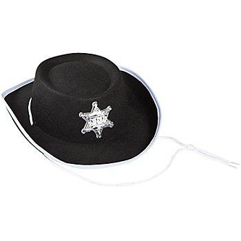 Chapeau de cowboy pour enfants, noir