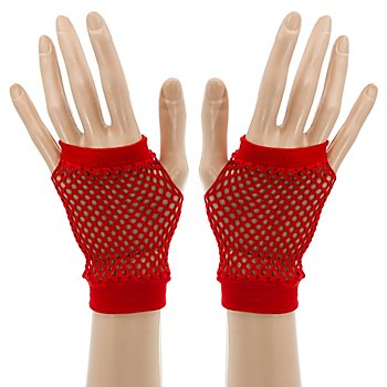 Netzhandschuhe, rot