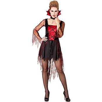 Déguisement 'femme araignée', noir/rouge