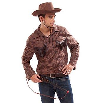 Westernhemd, braun
