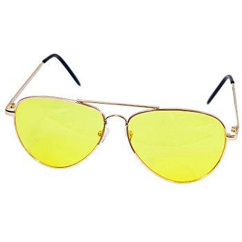 Pilotenbrille, gelb/gold