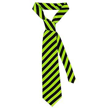 Cravate à rayures, vert/noir