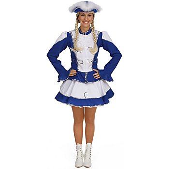 Gardekostüm für Damen, blau/weiß
