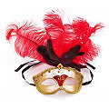 """Masque """"Venise"""", rouge/or"""