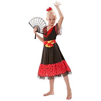 Déguisement 'danseuse espagnole' pour enfants, rouge/noir