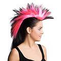 Irokesen-Haarteil, pink/schwarz