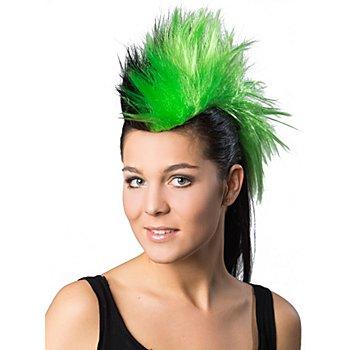 Irokesen-Haarteil, grün/schwarz