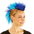Irokesen-Haarteil, blau/türkis