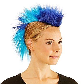 Crête de punk, bleu/turquoise