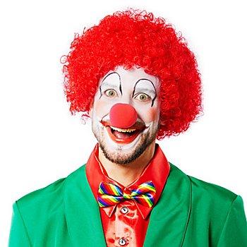 Gelockte Clownperücke, rot