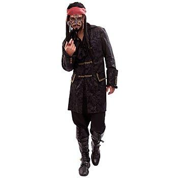 Piratenjacke, schwarz