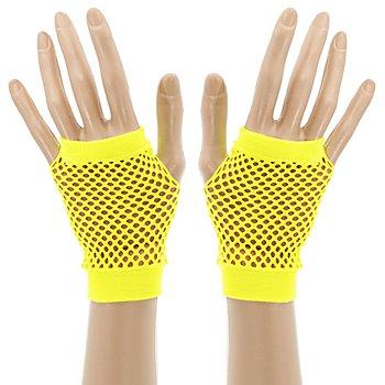 Netzhandschuhe, neongelb
