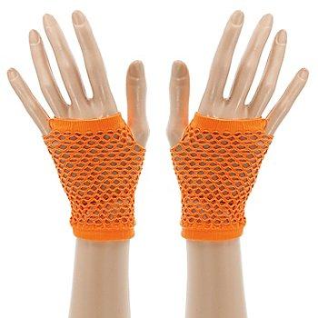 Netzhandschuhe, neonorange