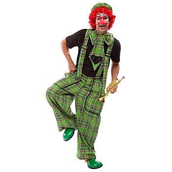 Clown-Latzhose und Riesenkrawatte für Damen, grün
