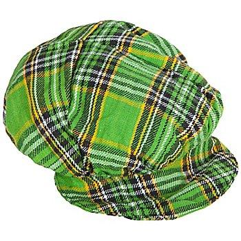 Casquette à carreaux, vert