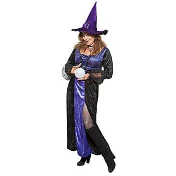 Robe de sorcière 'Minèrve', noir/violet