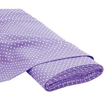 Tissu coton à pois 'Mona', lilas/blanc, 5 mm Ø
