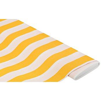 Allround-Gewebe 'Madrid Streifen', gelb/weiß