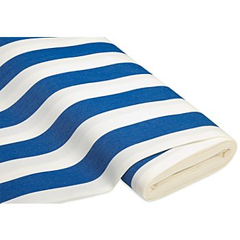 Tissu d'extérieur à rayures 'Madrid', bleu/blanc