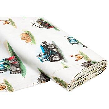 Tissu coton 'tracteur'