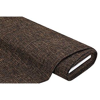 Tissu d'ameublement 'Rustica', marron/noir