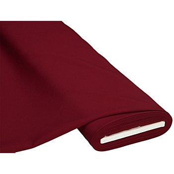 Tissu polyester uni, bordeaux