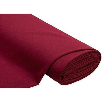 Tissu sweat-shirt 'Basic', avec envers doux et gratté, bordeaux