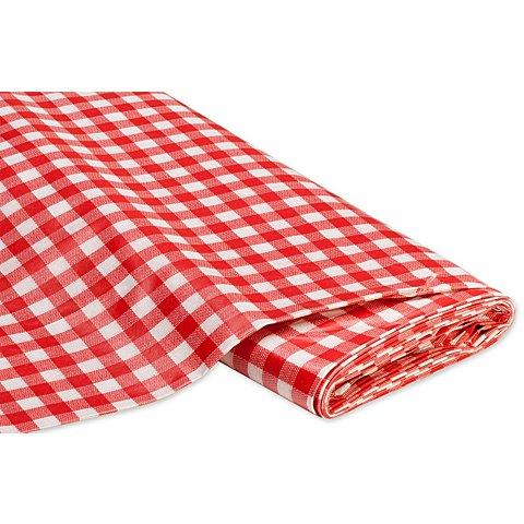 Image of Abwaschbare Tischwäsche - Wachstuch Karo, rot/weiss