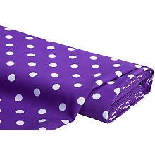 Tissu polyester 'pois', violet/blanc