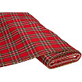 Tissu à carreaux écossais, rouge, 145 cm