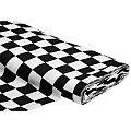 Tissu coton à damier, blanc/noir