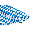 "Baumwollstoff ""Raute"", blau/weiss"